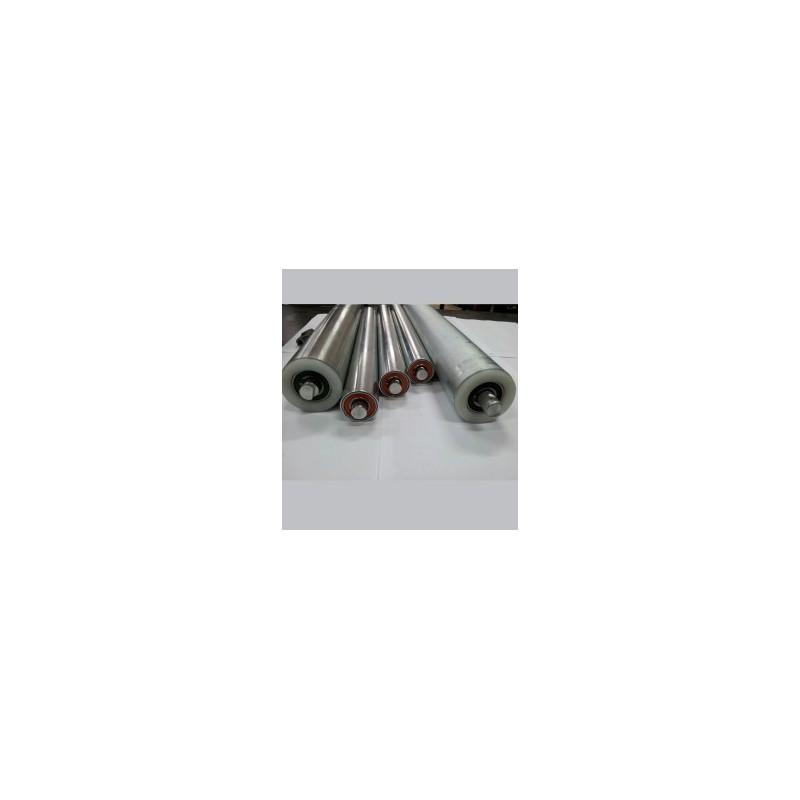 Uma troca de rolamento de rolete de esteira com lona de 43 até 50cm de largura